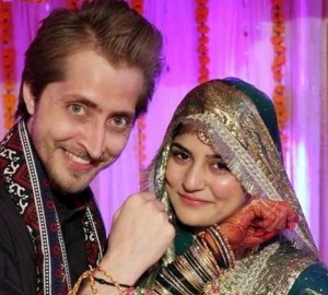 sanam baloch wedding with husband pics